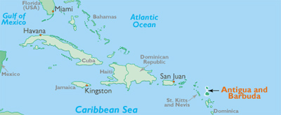 Image: map of Caribbean