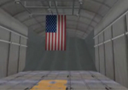 Image: flag in cargo plane